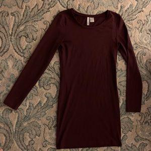 Maroon Marl DIVIDED brand Small Dress